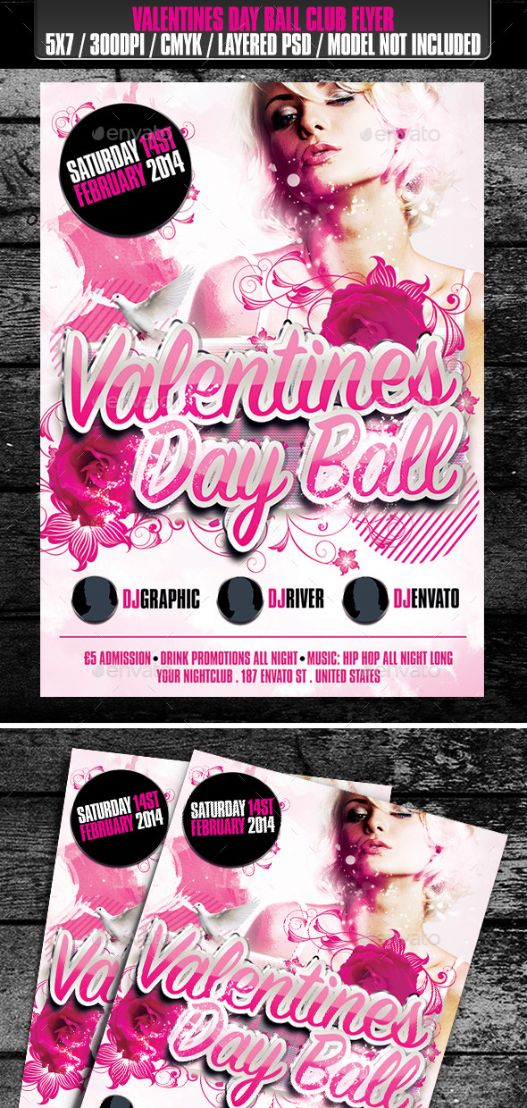 Valentines Day Ball Club Flyer - Clubs & Parties Events