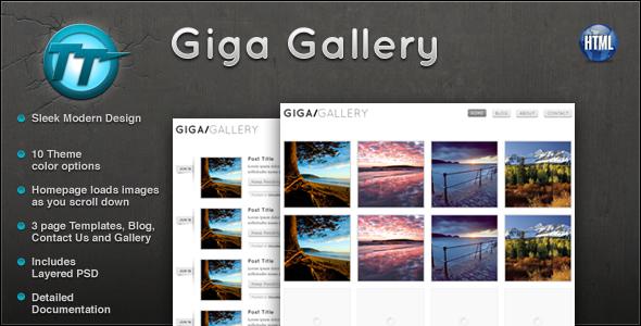 giga gallery html template by gothemeteam themeforest. Black Bedroom Furniture Sets. Home Design Ideas