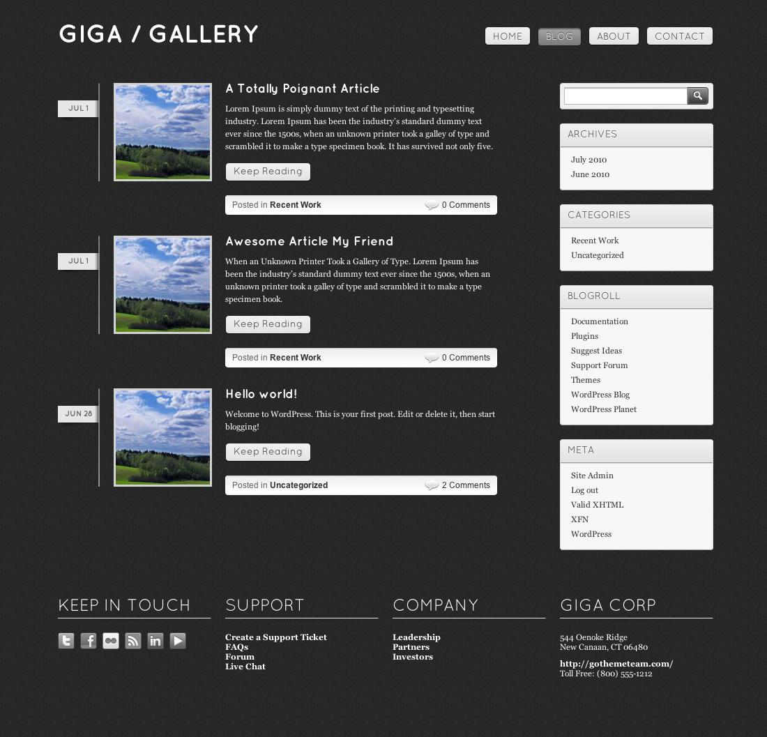 Giga Gallery HTML Template by goThemeTeam | ThemeForest