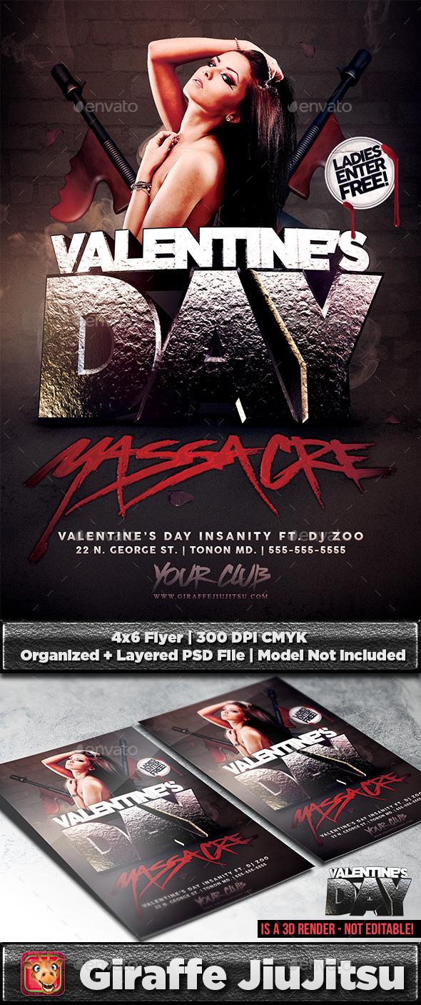 Valentine's Day Massacre Flyer Template - Holidays Events