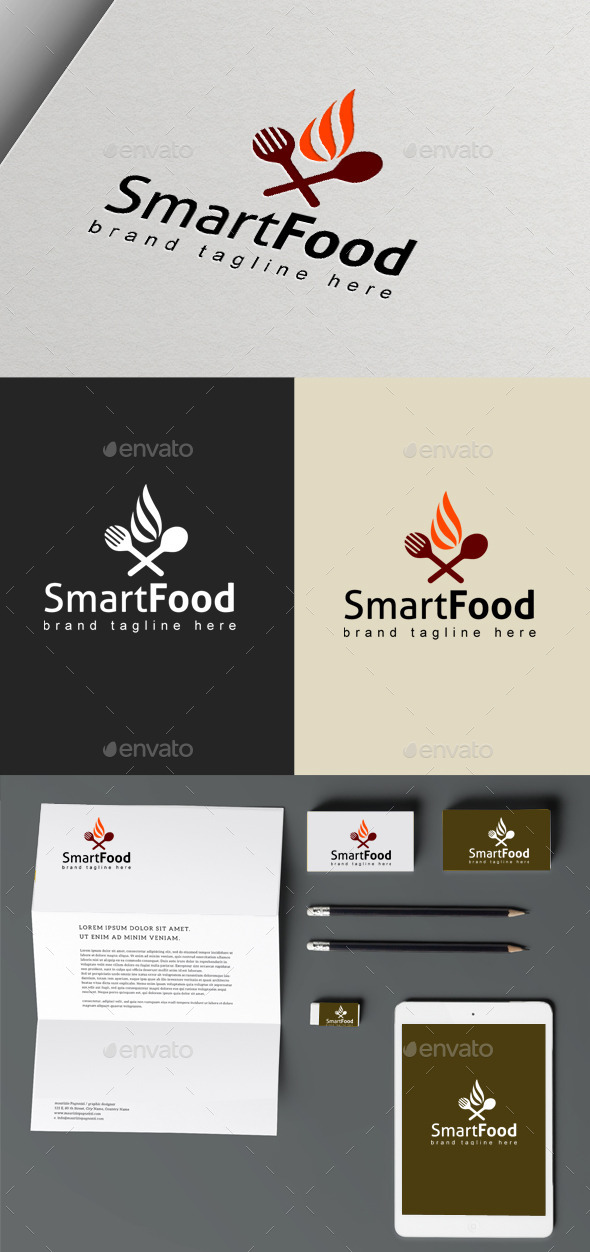 Smart Food - Objects Logo Templates