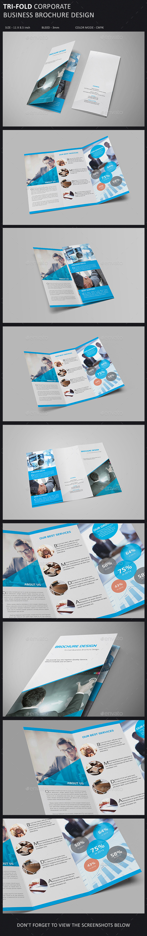 Tri-Fold Brochure Template - Corporate Brochures