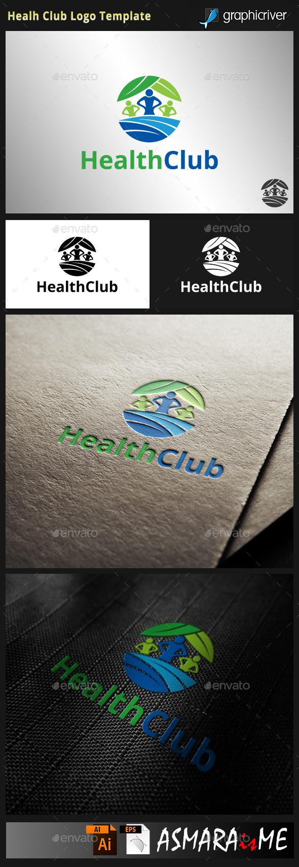 Health Club Logo - Humans Logo Templates