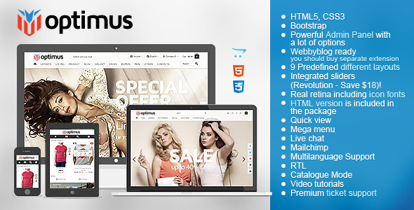 Optimus - Flexible Responsive OpenCart Theme - Fashion OpenCart