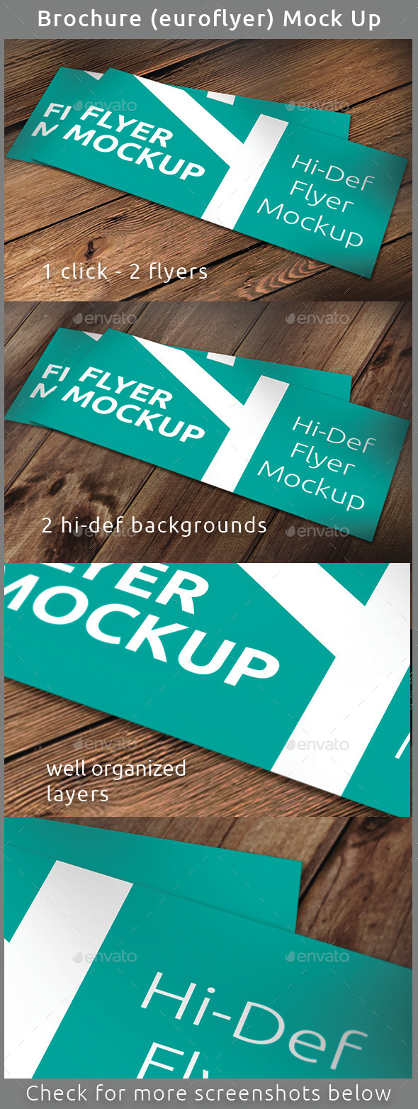 Realistic Brochure (Flyer) Mock-Up - Brochures Print