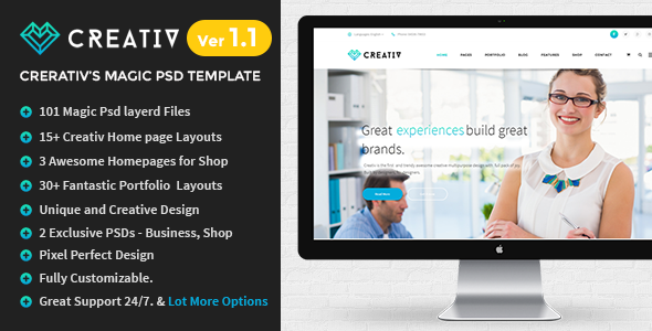 Creativ | Multi_Concept Business PSD Template - Business Corporate