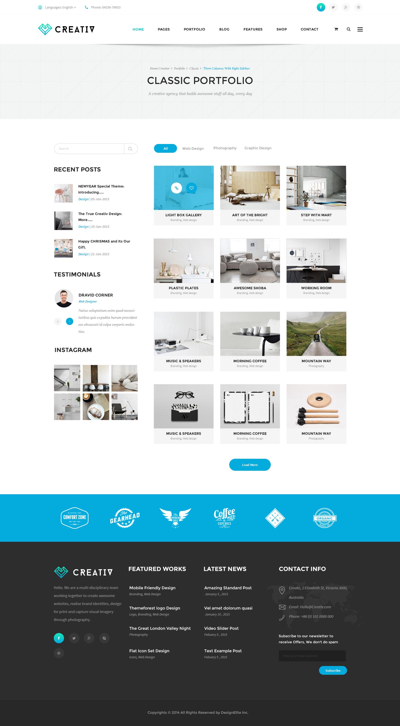 Creativ | Multi_Concept Business PSD Template