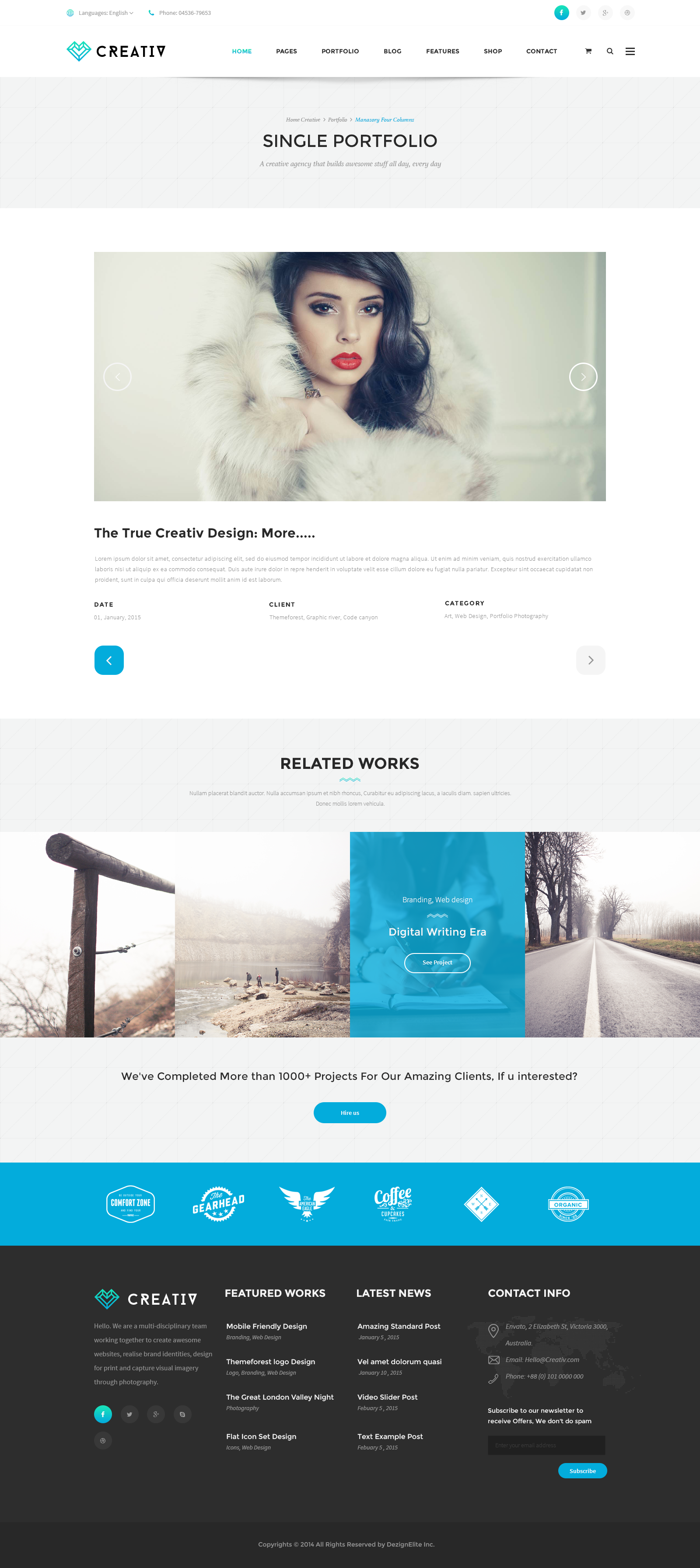 Creativ | Multi_Concept Business PSD Template