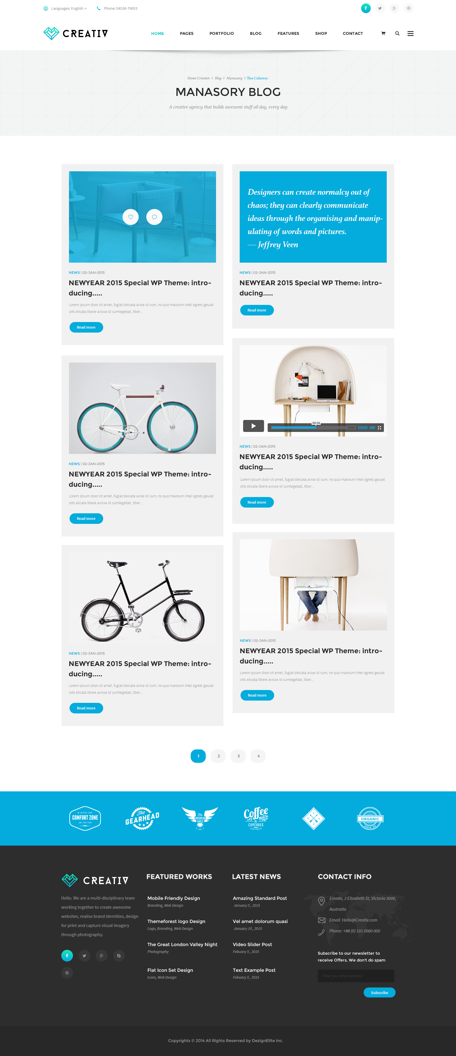 Creativ   Multi_Concept Business PSD Template