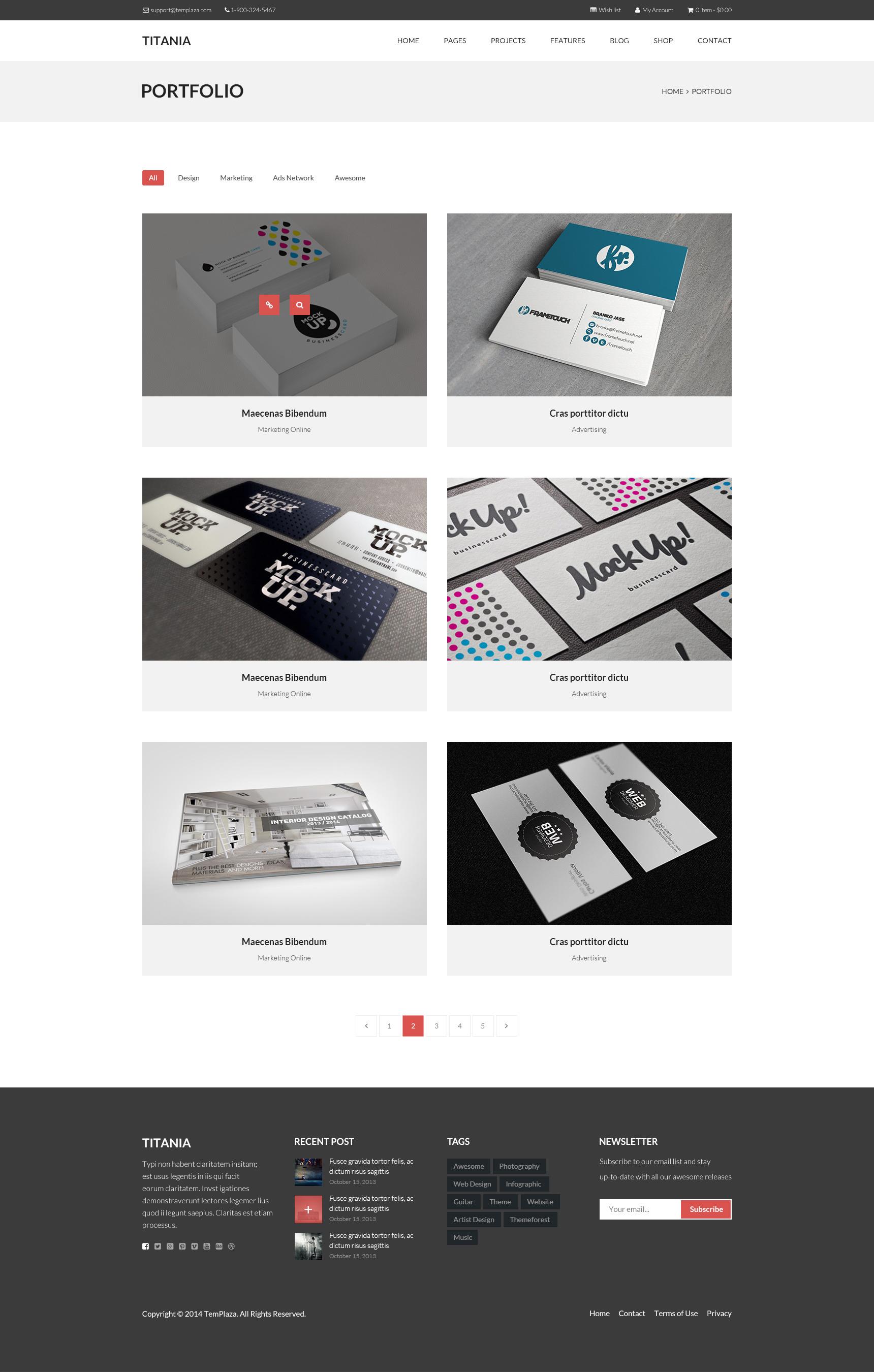 Titania - Multipurpose WordPress Theme by templaza | ThemeForest