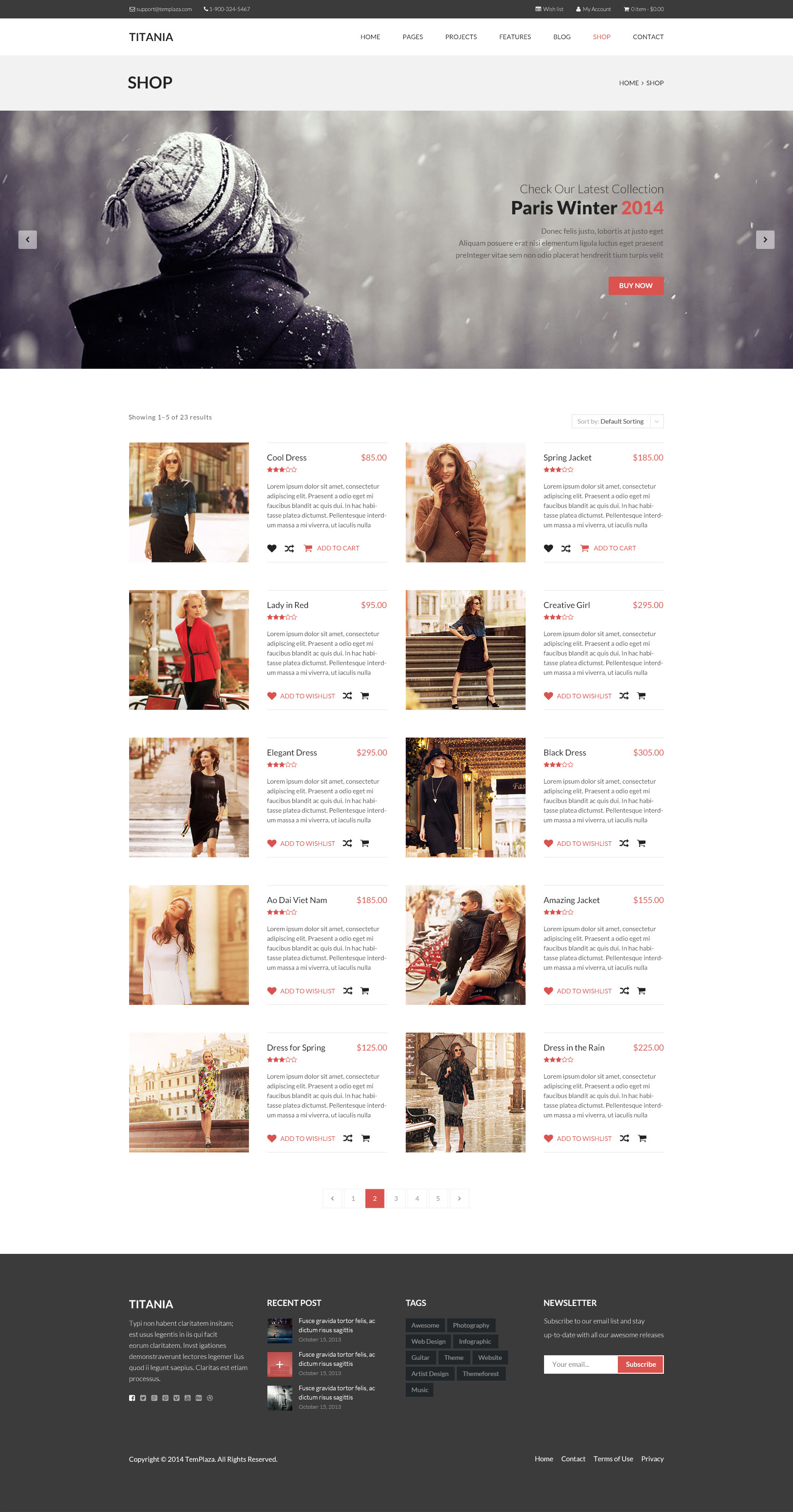 Titania - Multipurpose WordPress Theme