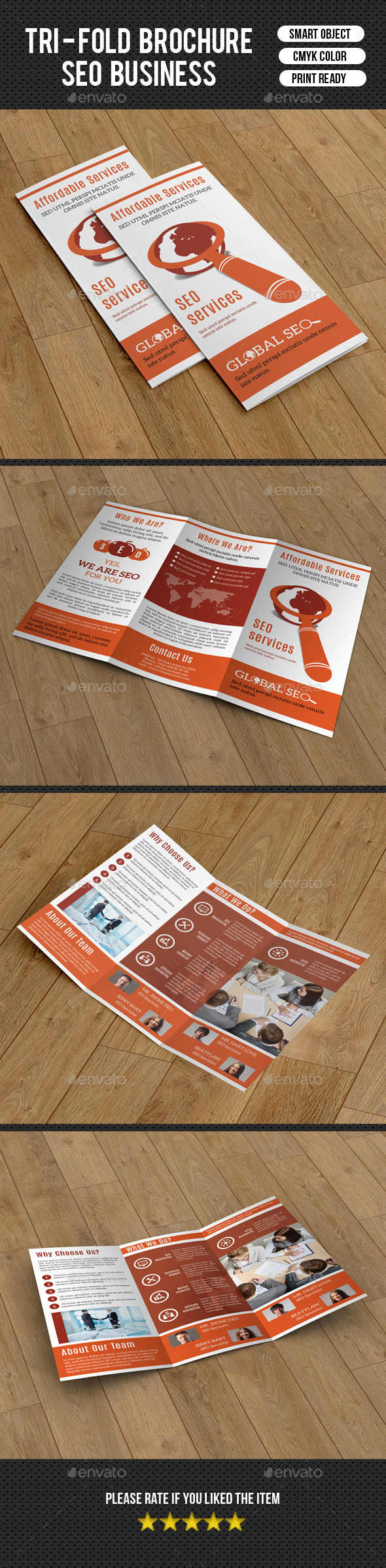 Trifold Brochure for SEO Business-V211 - Corporate Brochures