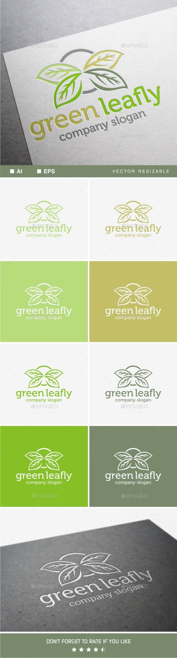 Green Leafly - Nature Logo Templates