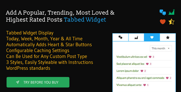 PopTrends Widget - Popular, Trending, Rating Lists - CodeCanyon Item for Sale