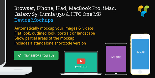 Image & Video Device Mockups Shortcode - CodeCanyon Item for Sale