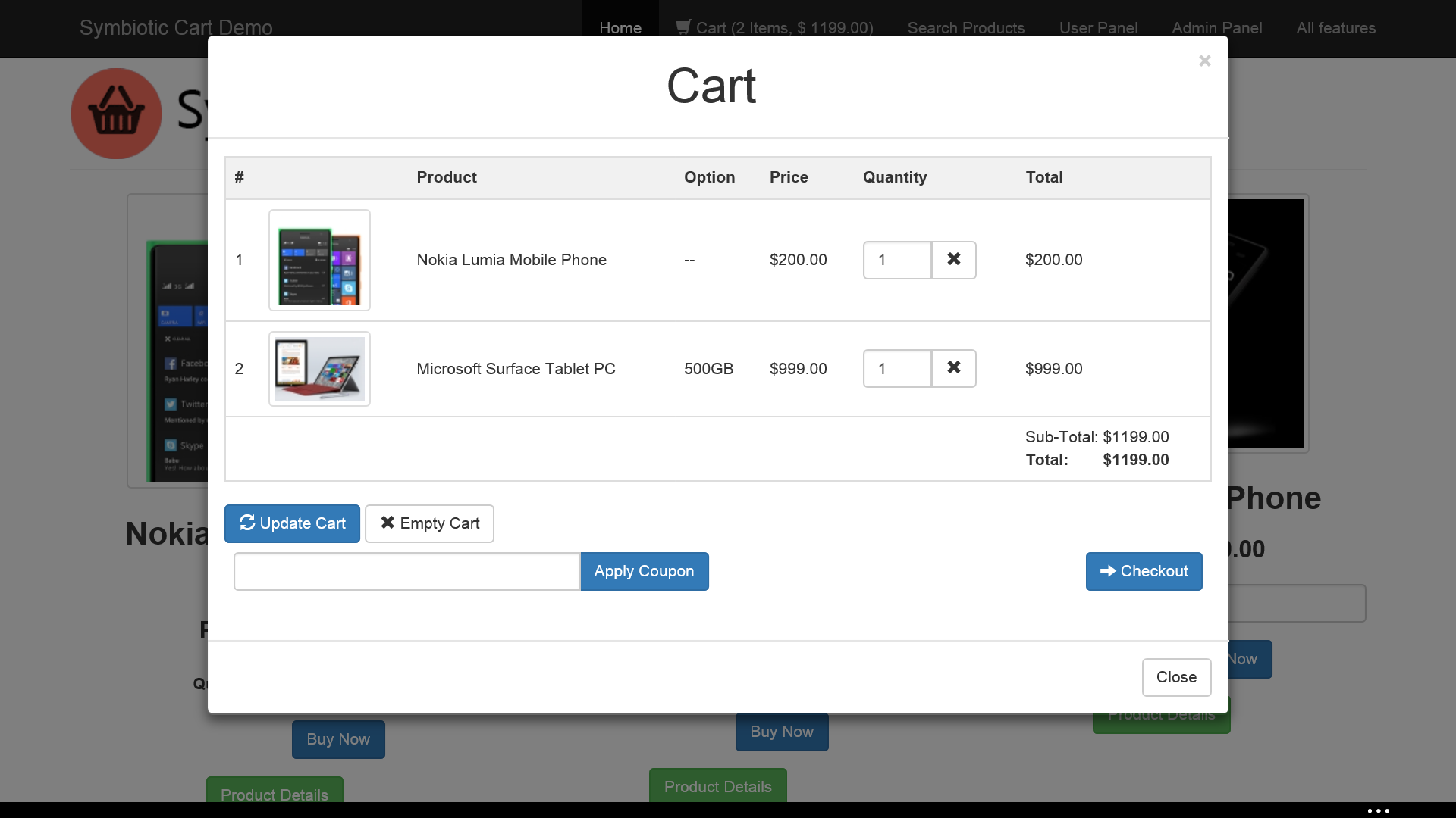 screenshots cart png