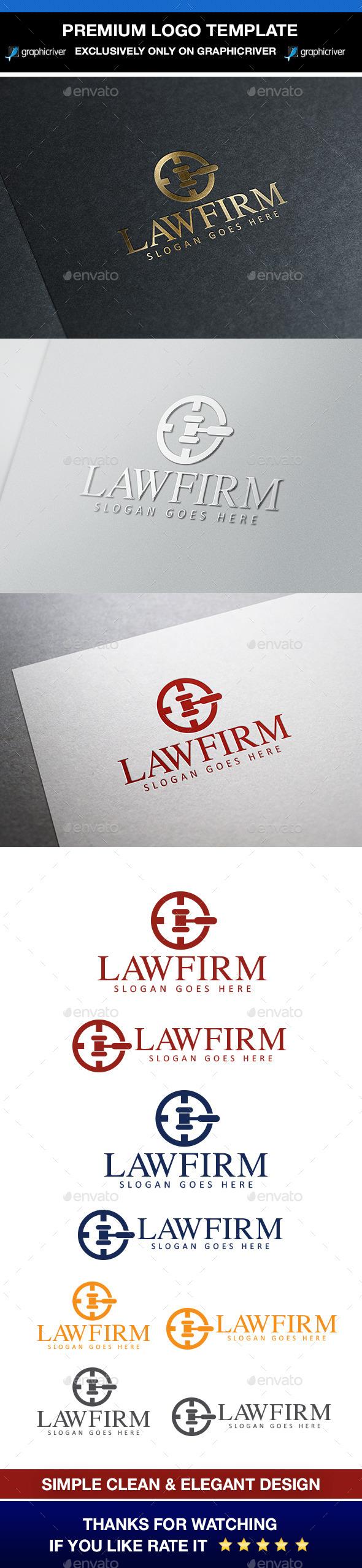 Law & Attorney Logo - Symbols Logo Templates