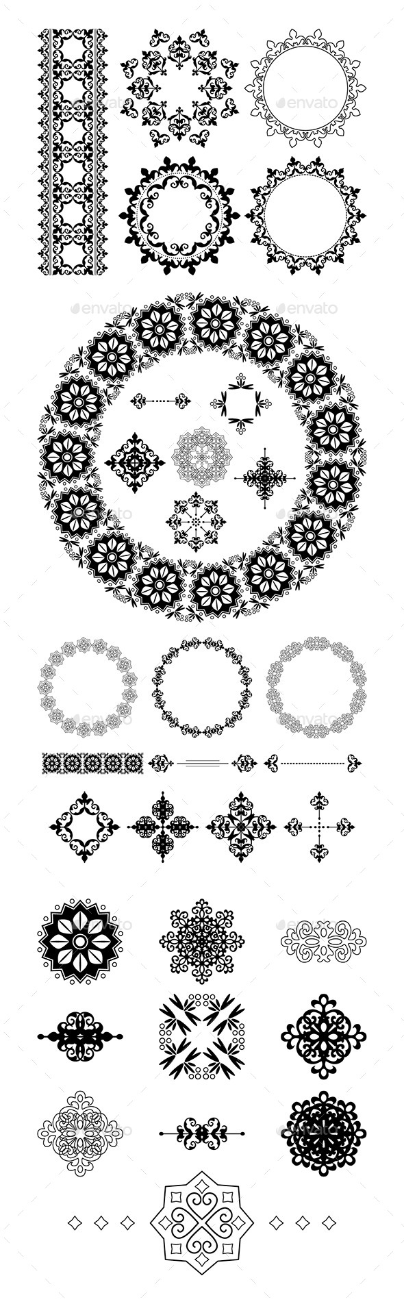 Vector Frames and Vintage Elements - Borders Decorative