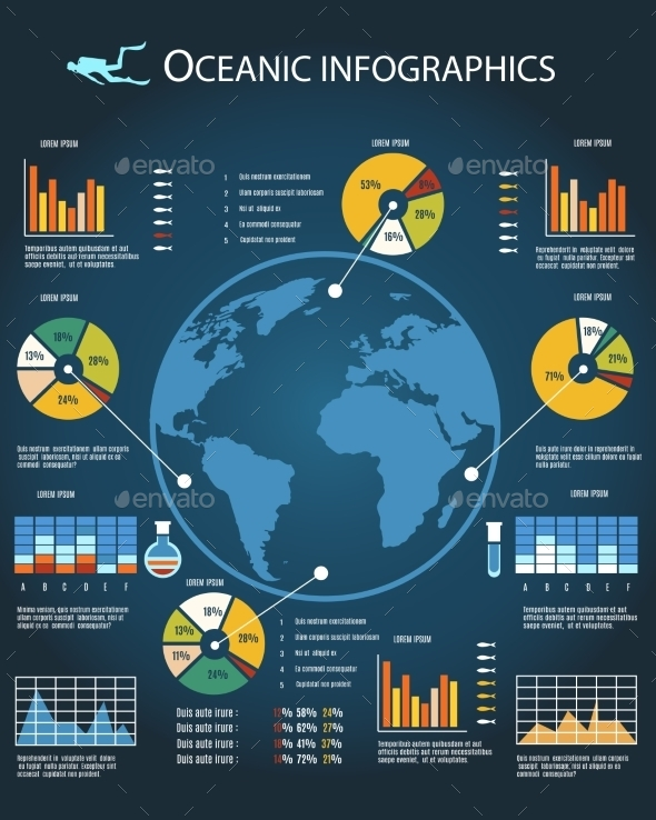 Oceanic Infographics Template - Concepts Business