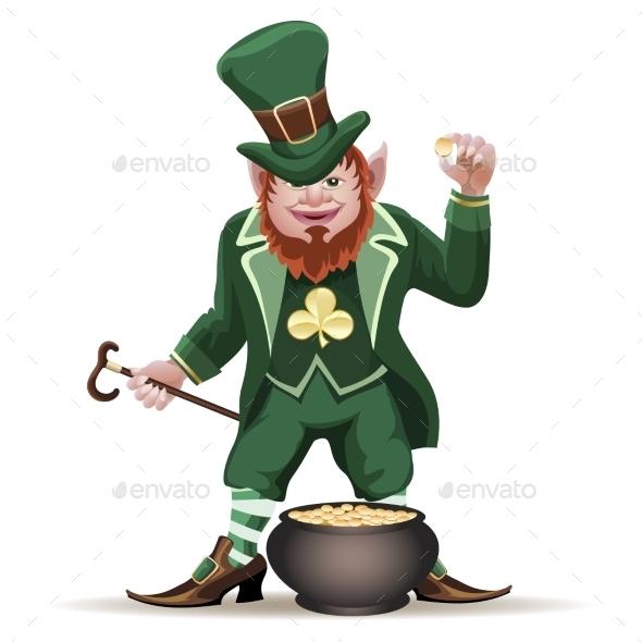 Leprechaun with a Cauldron - Miscellaneous Seasons/Holidays