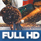 Construction Bits 16 -- Steel Cutting With Grinder - VideoHive Item for Sale