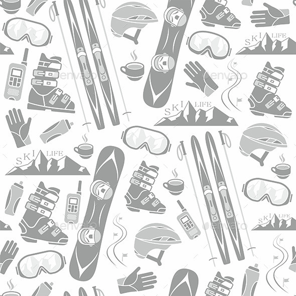 Winter Pattern - Sports/Activity Conceptual