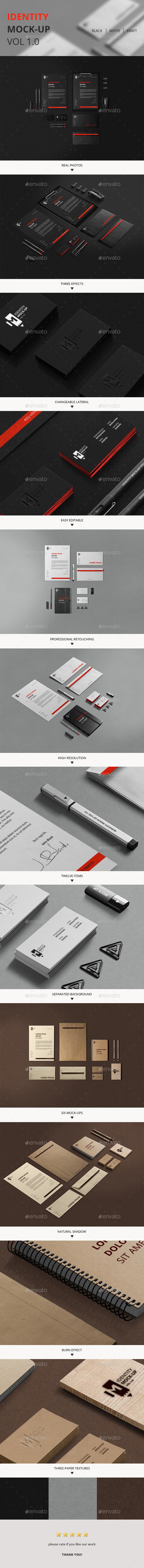 Branding / Identity Mock-Up - Stationery Print