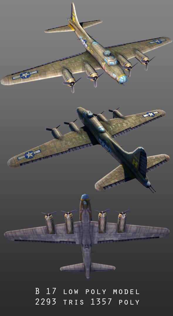 B-17  - 3DOcean Item for Sale