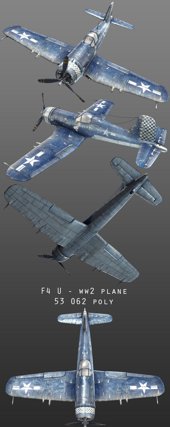 Vought F4U - 3DOcean Item for Sale