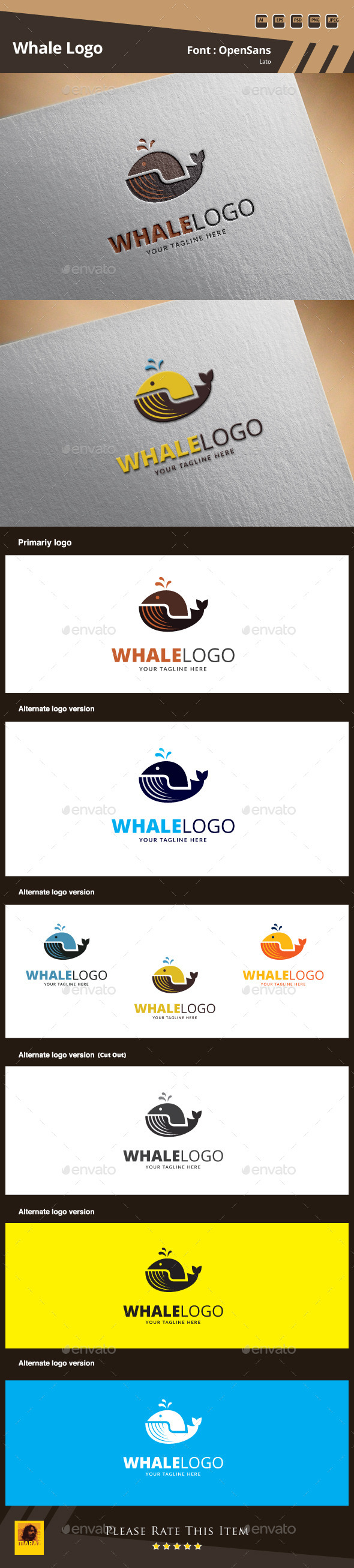 Whale Logo Template - Animals Logo Templates