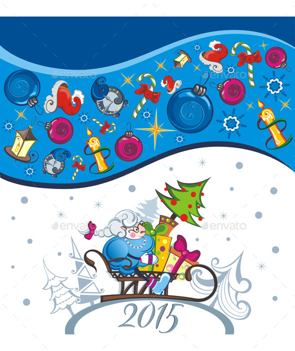 Vector Card of New Year - Christmas Seasons/Holidays