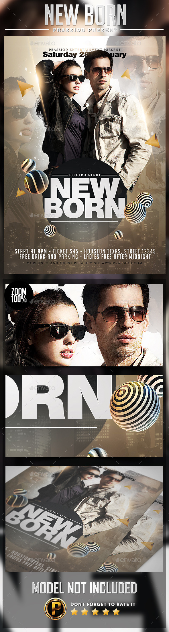 New Born Flyer Template - Clubs & Parties Events