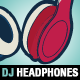 Dj Headphones Vector Template - GraphicRiver Item for Sale