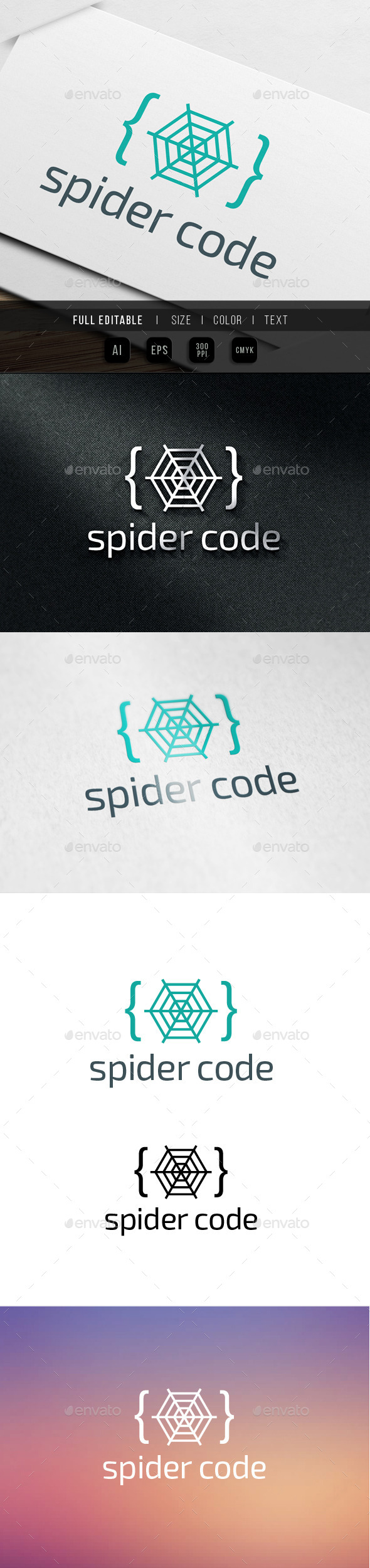 Spider Code Logo - Abstract Logo Templates