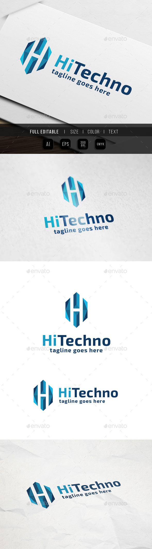 Hi Tech - Letter H - Letters Logo Templates