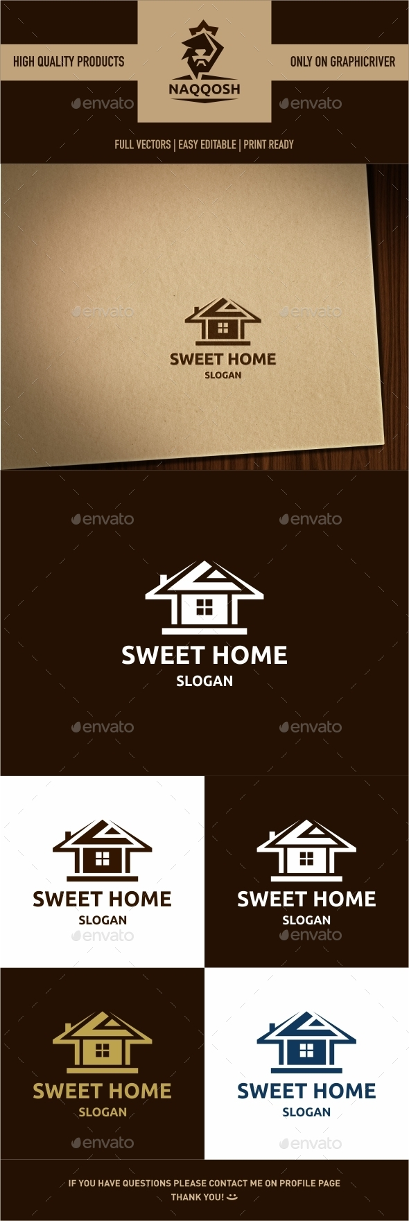 Sweet Home - Symbols Logo Templates