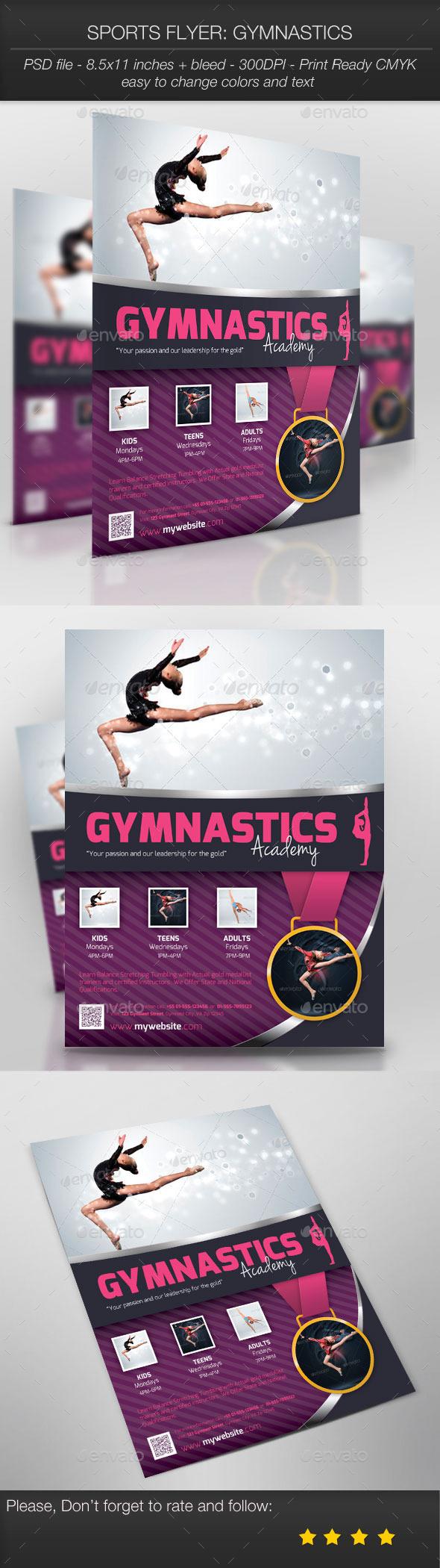 Sports Flyer: Gymnastics - Sports Events
