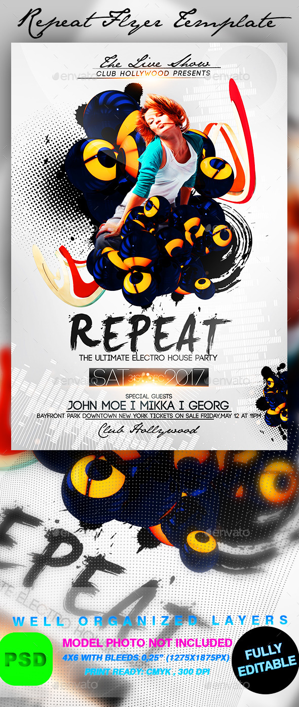 Repeat Flyer Template - Events Flyers