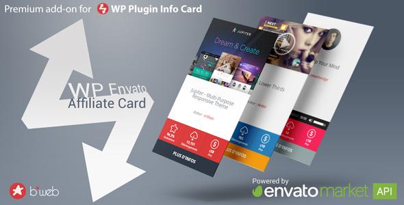 WP Envato Affiliate Card