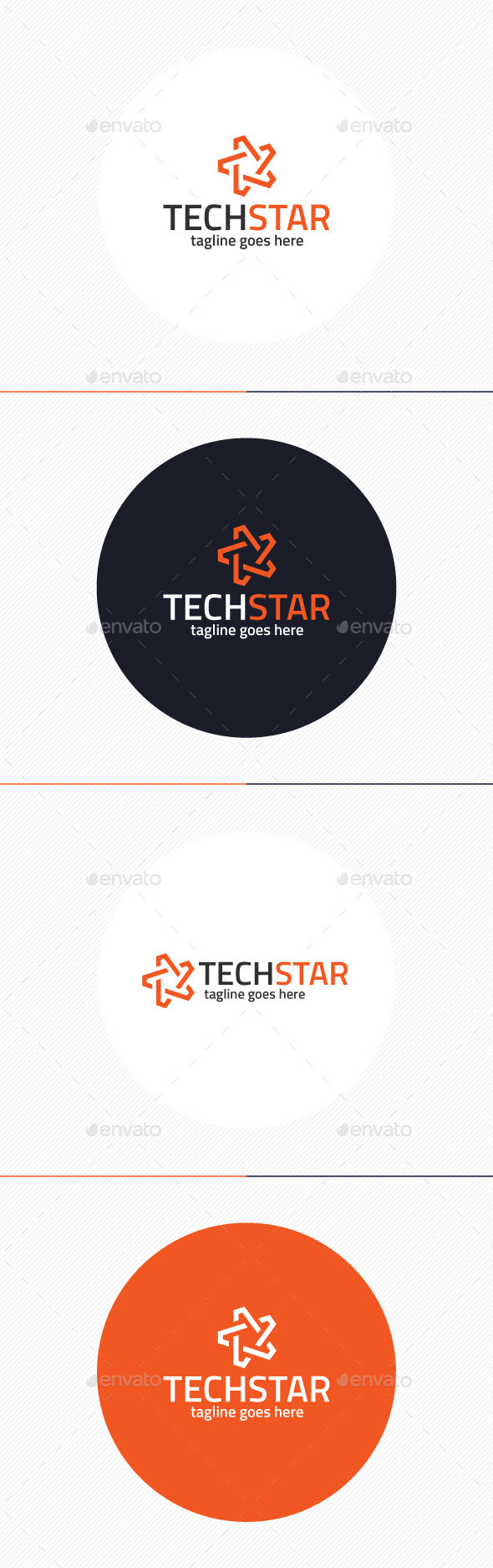 Tech Star Logo - Vector Abstract