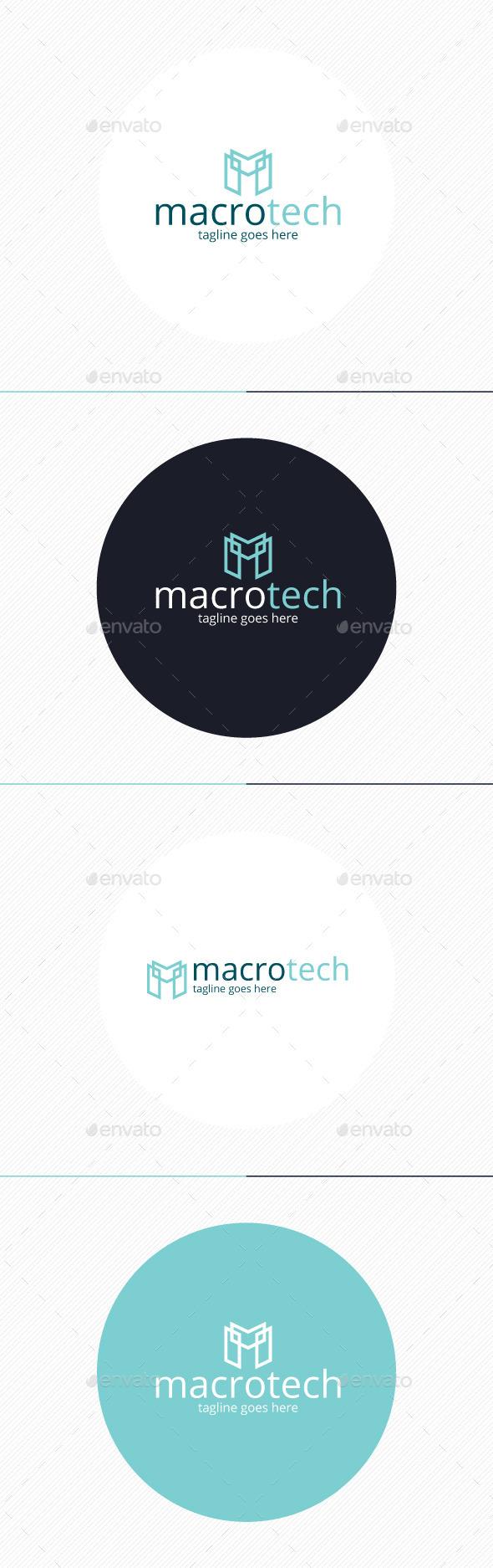 Macro Tech Logo • Letter M - Letters Logo Templates