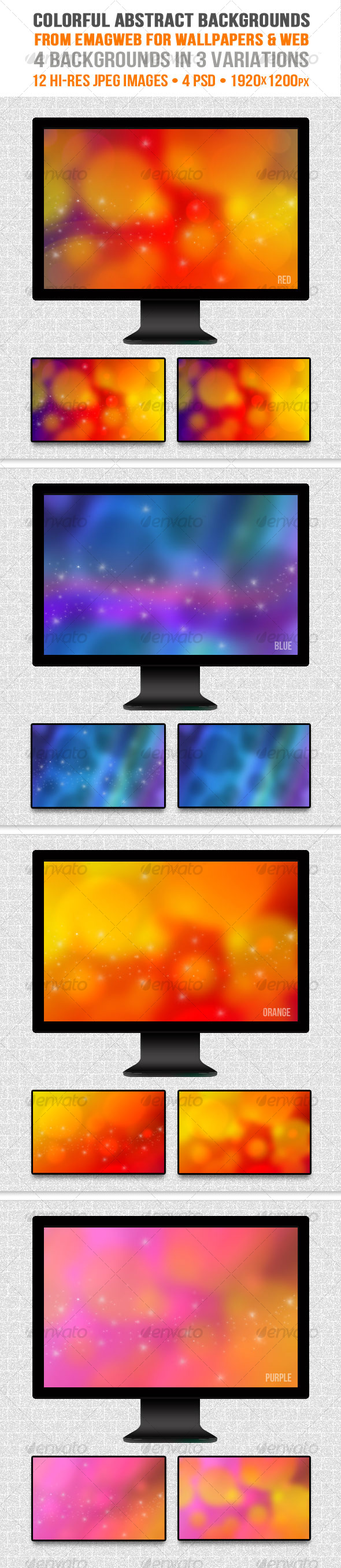 Colorful Abstract Backgrounds for Wallpapers & Web - Abstract Backgrounds