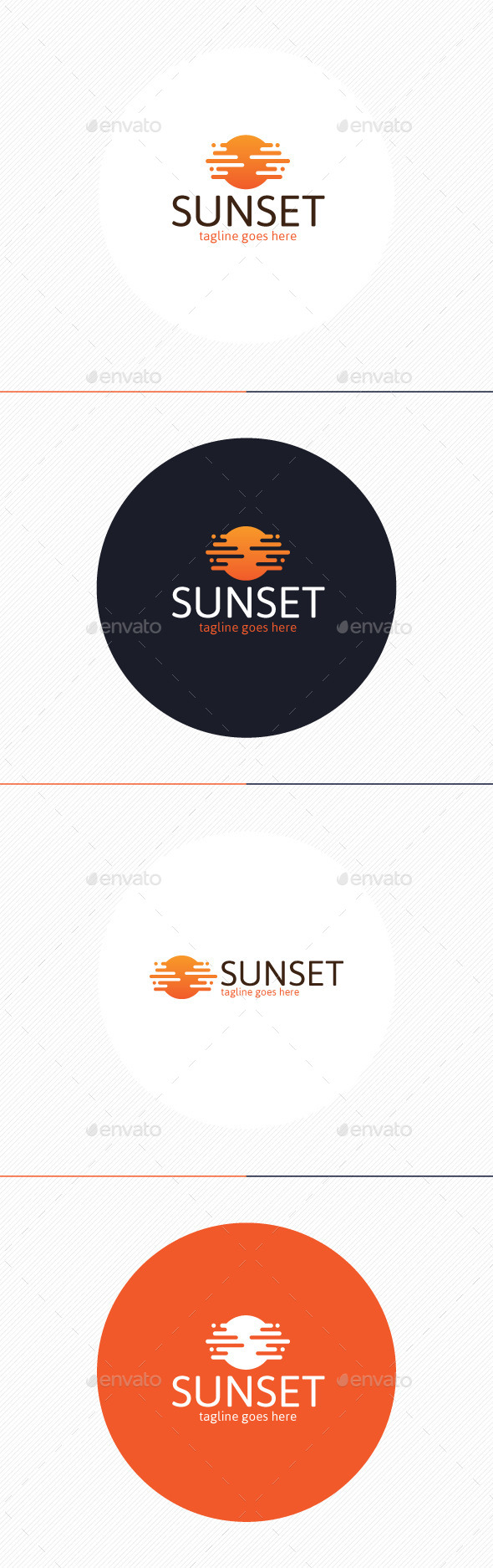 Sunset Logo - Nature Logo Templates