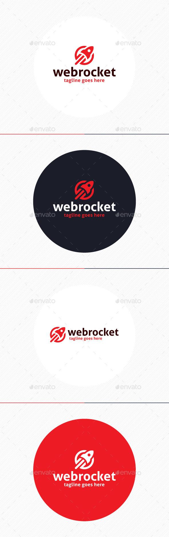Web Rocket Logo - Objects Logo Templates