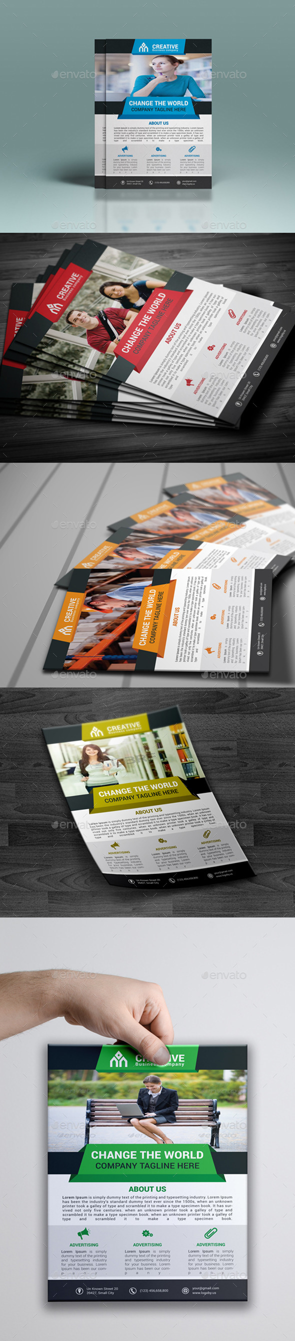 Creative Corporate Flyer - Flyers Print Templates
