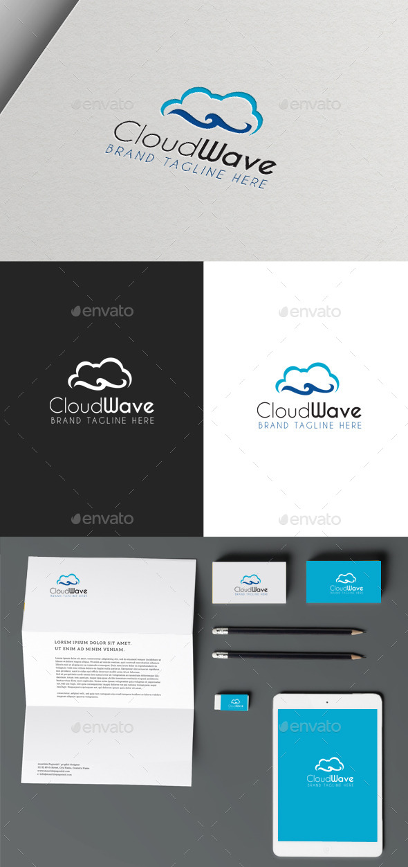 Cloud Wave - Objects Logo Templates