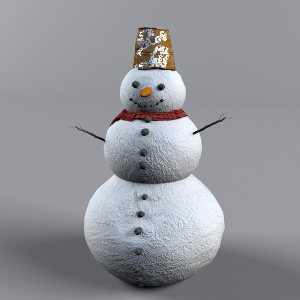 Snowman - 3DOcean Item for Sale