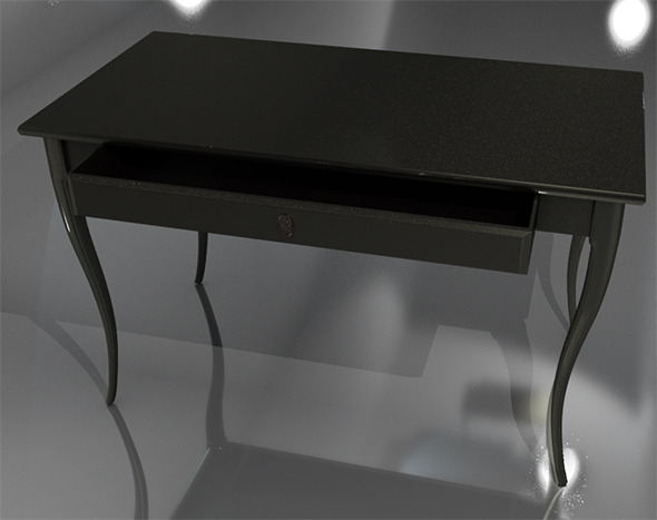 Wooden Desk - 3DOcean Item for Sale