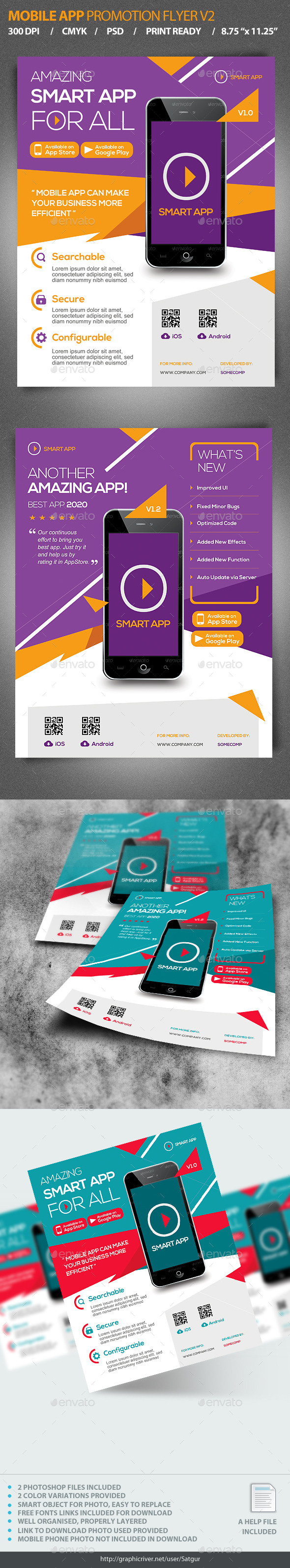 Mobile App Promotion Flyer V2  - Corporate Flyers