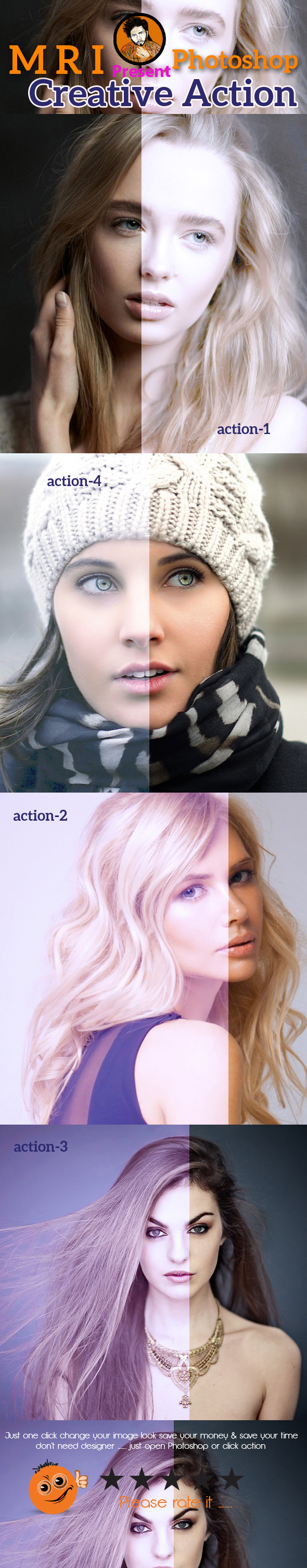Glow Light Action - Actions Photoshop